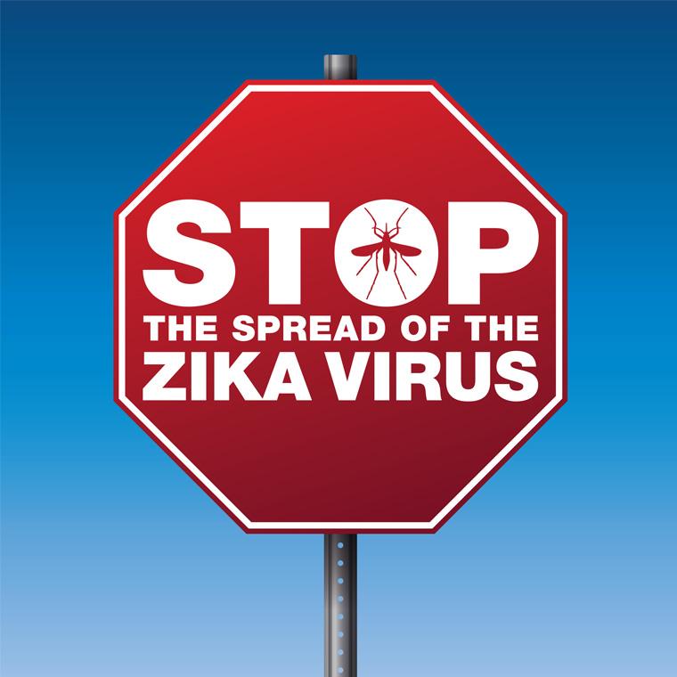 Zika stop sign