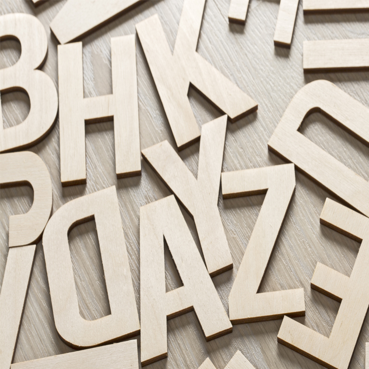 jumbled letters of the alphabet