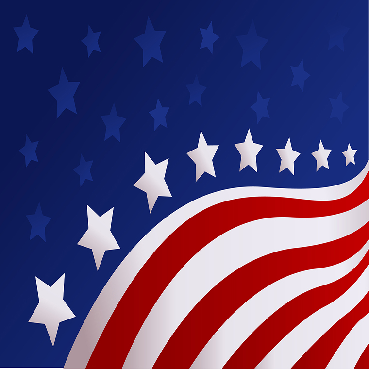 stars and bars from American flag