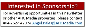 Sponsorship Ad - E-newsletter