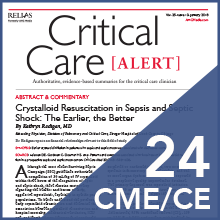 Critical Care Alert earn 24 CME CE credits