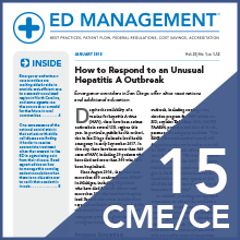 ED Management Alert Online CME Subscription