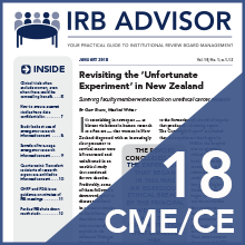 IRB Advisor Online CME Subscription