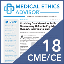 Medical Ethics Advisor Online CME Subscription