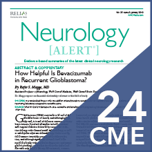 Neurology Alert earn 24 CME CE credits