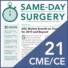 Sds same day surgery 2018 cme ce
